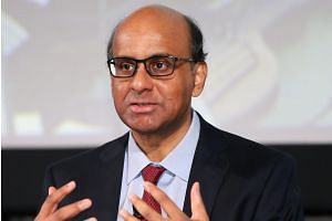 """Deputy Prime Minister Tharman Shanmugaratnam said the GST increase is part of the """"balance that we are striking""""."""