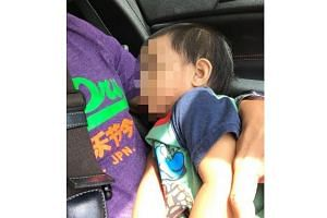 The one-year-old toddler was safely secured and sleeping prior to CNB officers handing him over to the care of the Child Protective Service of the Ministry of Social and Family Development.