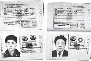 Scans of authentic Brazilian passports issued to Kim Jong Un (left) and Kim Jong Il,