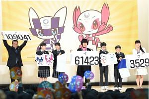 The Olympic (left) and Paralympic mascots that were unveiled received more than 100,000 votes during a selection process.