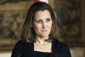 Canada will act to defend its trade interests and workers, said Freeland (above), in a  statement.