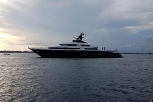 Indonesian police seized the yacht Equanimity on Feb 28, off the resort island of Bali.
