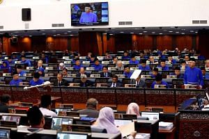 Malaysia's Prime Minister Najib Razak presents the 2018 budget at the parliament house in Kuala Lumpur, on Oct 27, 2017.