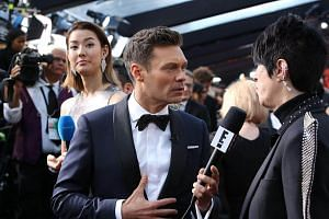 Ryan Seacrest on the red carpet before the 90th Academy Awards at the Dolby Theater in Los Angeles on March 5, 2018.