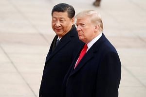 US President Donald Trump with China's President XiJinping in Beijing, China on Nov 9, 2017.