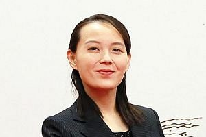 Ms Kim Yo Jong was present at a meeting on Monday with Seoul's special envoys, and at the welcome dinner later.
