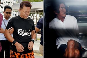 Khoo Kea Leng (left) was offered bail of $20,000 while Tan Poh Teck's bail was set at $25,000.