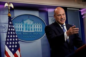 White House chief economic adviser Gary Cohn speaks during a press briefing at the White House in Washington, US, on Sept 28, 2017.