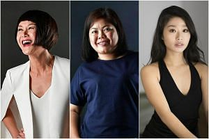 (From left) Janice Koh, Dalifah Shahril and Na-Young Jeon are this year's Best Actress nominees at The Straits Times' Life Theatre Awards.