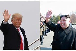 US President Donald Trump (left) agreed on March 8, 2018 to a historic first meeting with Kim Jong Un.