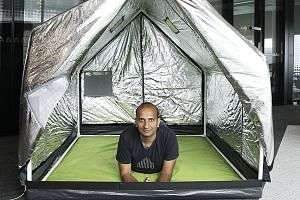 billionBricks co-founder Prasoon Kumar inside a weatherHyde tent. In 2016, the group raised over $145,000 through crowdfunding, enabling it to give 500 tents to needy families.