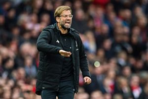 Klopp reacts during the match.