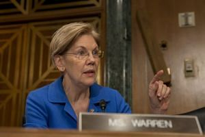 Senator Elizabeth Warren at the Senate Committee on Banking, Housing, and Urban Affairs hearing on 'The Semiannual Monetary Policy Report to the Congress at the US Capitol in Washington, DC, US, on March 1, 2018.