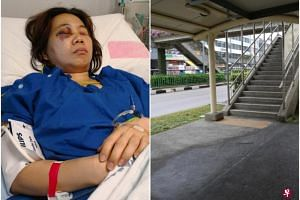 Ms Goh Lay Yong was hit by an e-scooter from the back on March 7, 2018.