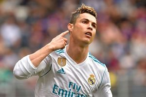 Ronaldo celebrates after scoring against Eibar.