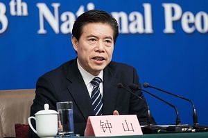 Chinese Commerce Minister Zhong Shan