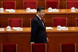 Chinese President Xi Jinping arriving for the third plenary session of the National People's Congress at the Great Hall of the People in Beijing, China, on March 11, 2018.