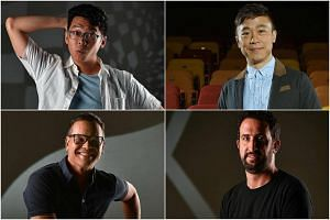 Best Supporting Actor nominees: (Clockwise from top left) Benjamin Chow, Oliver Chong, Andy Tear and Sean Ghazi.