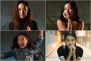 Best Supporting Actress nominees: (Clockwise from top left) Oon Shu An, Jo Tan, Cheryl Tan and Chloe Choo.