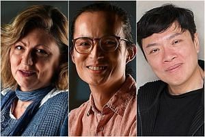 (From left) The Straits Times' Life Theatre Awards Best Director nominees Tracie Pang, Nelson Chia, and Ong Keng Sen.