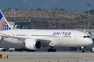 File photo showing a United Airlines Boeing 787 Dreamliner sitting on the tarmac at Los Angeles International Airport.