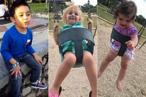 (From left) Muhammad Iqram Danish, Addyson Overgard-Eddy and Brynn Hawkins died after being left by their parents in vehicles.