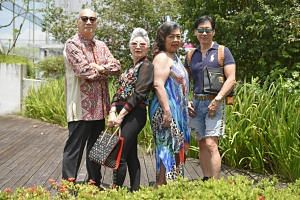 Stylish seniors (from left) Mr Tan Dib Jin, Ms Irene Chew, Ms Shirley Tay and Mr Edmund Koh.