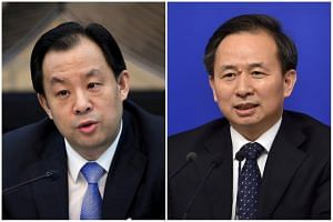 Heilongjiang governor Lu Hao (left) will lead the newly-formed Ministry of Natural Resources, while environment minister Li Ganjie will head the new Ministry of Ecological Environment.