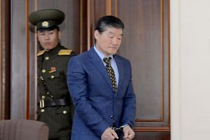 Korean-American Kim Dong Chul entering a courtroom in this undated photo released by North Korea's Korean Central News Agency on April 29, 2016.