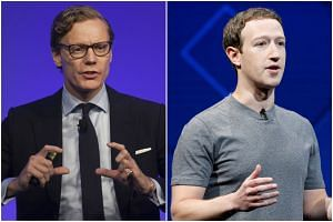 Alexander Nix (left), chief executive of Cambridge Analytica and Facebook chief Mark Zuckerberg.