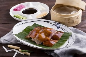 Forbidden Duck's signature Peking duck. PHOTO: FORBIDDEN DUCK