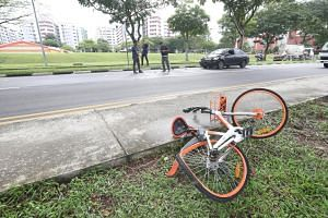 A 19-year-old female cyclist was hit by a car at the junction of Corporation Road and Fourth Chin Bee Road.