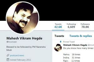 Mr Mahesh Vikram Hegde was arrested in southern Karnataka state on charges of spreading fake and communally sensitive news on his right wing website, a senior police officer said.