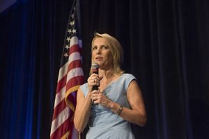 Laura Ingraham speaking at an event in Scottsdale, Arizona, in October 2017.