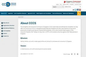 The Competition Commission of Singapore was renamed the Competition and Consumer Commission of Singapore (CCCS) on April 1.