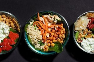 Mix and match your base, protein, sauce and toppings in your lunch bowl to suit your taste.