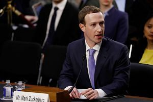 Facebook CEO Mark Zuckerberg testifies before a joint Senate Judiciary and Commerce Committees hearing regarding the company's use and protection of user data, on April 10, 2018.