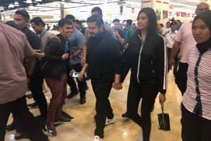 Johor Crown Prince Tunku Ismail Sultan Ibrahim surprised shoppers with a RM3,000 spending spree each at Aeon Tebrau on April 11.