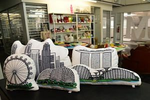 The Farm Store, which sells quirky Singapore-themed items, released its own line of cushions featuring parts of the Singapore skyline in July 2017 with help from the Experience Step-Up Fund.