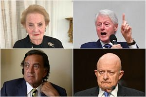 Landmark American visits to North Korea include (clockwise from top left) former Clinton cabinet official Madeleine Albright, former US presidents Bill Clinton and Jimmy Carter, and former ambassador to the United Nations Bill Richardson.