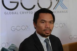Philippine boxing icon Manny Pacquiao (pictured) is the latest athlete to launch a virtual currency, following Floyd Mayweather and former England striker Michael Owen.