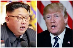 Trump (right) dispatched CIA director Mike Pompeo to Pyongyang last month to meet with Kim (left).