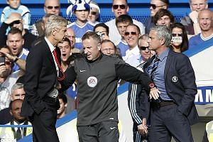 Arsenal manager Arsene Wenger and then Chelsea manager Jose Mourinho having a spat on the touchlines during a league game in October 2014. With Wenger leaving, their bitter feud is now water under the bridge.