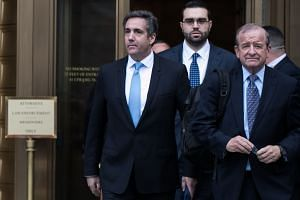 Michael Cohen leaves a court hearing in Manhattan, April 16, 2018.