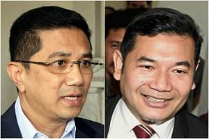 The tug-of-war over candidates is a continuation of the tussle between two camps in PKR, one led by Datuk Seri Azmin Ali (left) and the other by vice-president Rafizi Ramli.