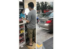 A photo of the driver in the Caltex incident, taken from the back, as well as a picture of his car and licence plate number were shared on social media, leading netizens to probe and reveal more details about him.