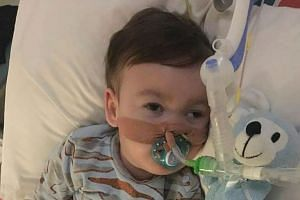 Alfie's parents earlier lost their final court bid to prevent doctors from turning off life-support for their son (above).