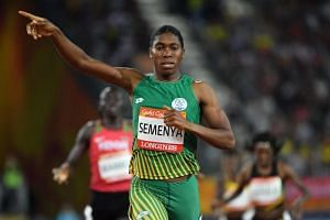 South Africa's Caster Semenya wins the athletics women's 800m final during the 2018 Gold Coast Commonwealth Games at the Carrara Stadium on April 13, 2018.