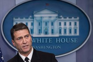 White House physician, Admiral Ronny Jackson, at a press briefing at the White House on Jan 16, 2018.