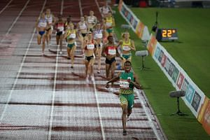 Caster Semenya of South Africa comfortably winning the 1,500m final at this month's Gold Coast Commonwealth Games. The IAAF says women athletes with high testosterone have an advantage of up to 9 per cent over women with normal levels.
